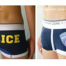 Men World police printed boxer shorts underwear