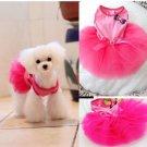 Dog Tutu Layered Princess Dress Hot Pink
