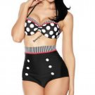 Bikini Set Women Dot Retro Swimsuit High Waist Bikinis Bathing Suit