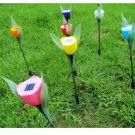 4 x Solar Powered Tulip Flower LED Path Light Lamp Home Garden Lawn Decoration