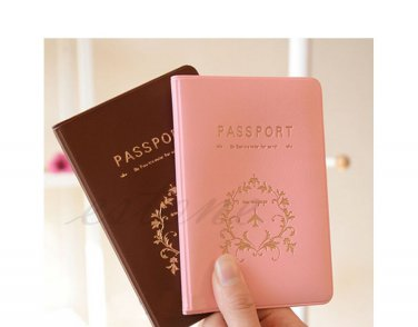 Passport Holder Documents Bag Sweet Trojan Travel Passport Cover Card Case