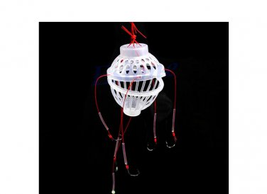 6 in 1 Lantern Bait Case Barbed Explosion Fishing Hook Fishing Tackle