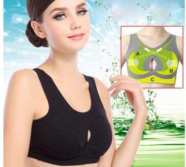 Cotton Sports Seamless Full Cup Women Yoga Bra Lady's Sleep Wire Free non stress Intimates Underwear