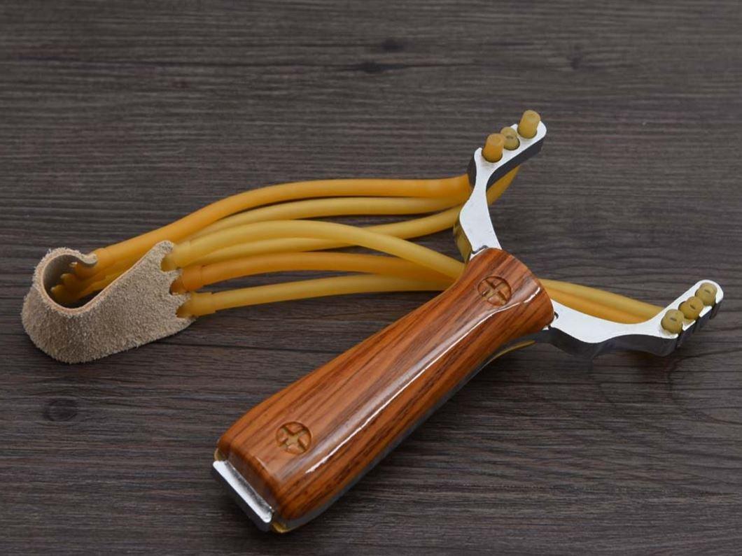 Outdoor Hunting Slingshot Aluminium Alloy Powerful Slingshot Bow Hunting