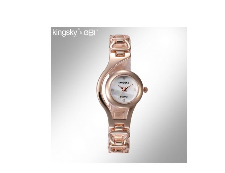 Rose gold Multi Links Women's Watch Quartz Alloy strap Rhinestone