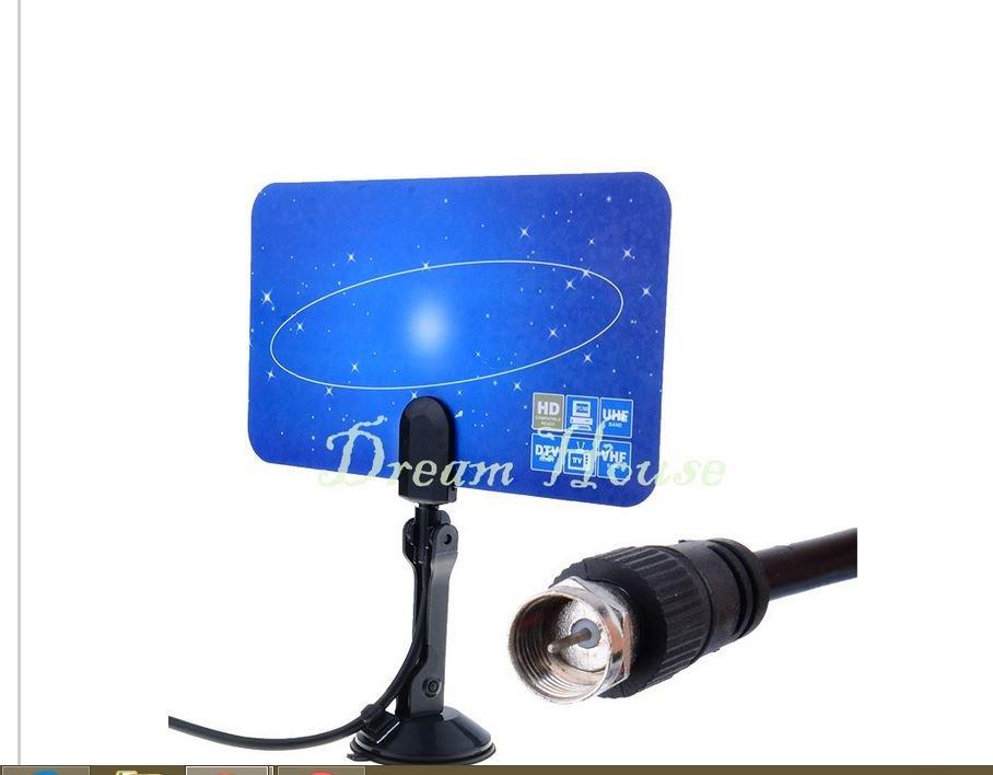 Digital Indoor TV Antenna HDTV DTV Box Ready HD VHF UHF Flat Design High Gain 29