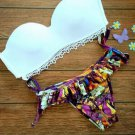 Bikini fringe bandeau Swimwear Brazilian push up swimsuit