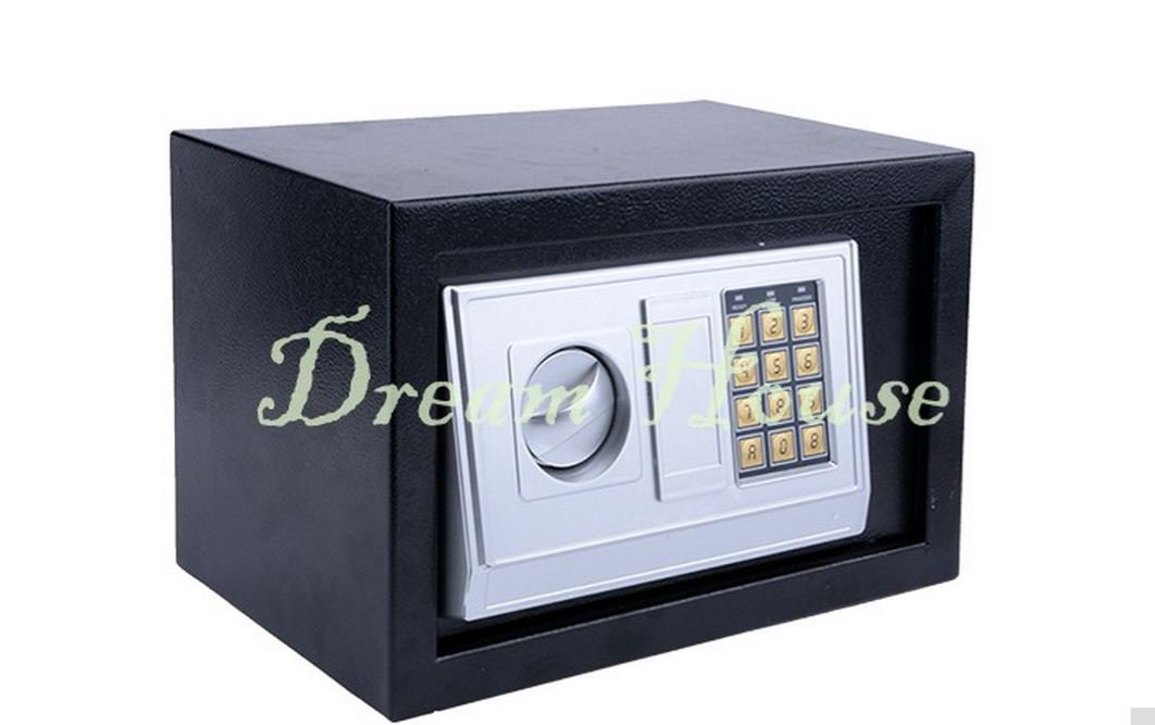 digital electronic safe security box wall jewelry cash gun lock keypad. Black Bedroom Furniture Sets. Home Design Ideas