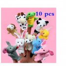 10X Zoo or Domestic Animal Finger Puppet Plush Toys Dolls Child Baby Favor