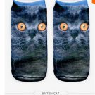 Cat 3D Print Animal women Socks Casual cartoon Socks Unisex Low Cut Ankle Socks