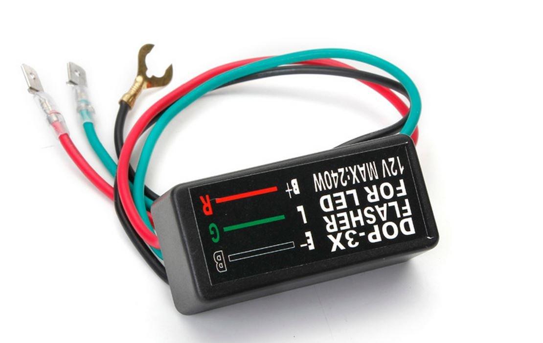 Universal 3 Pin Motorcycle 12V LED Turn Signal Light Flasher Blinker Relay