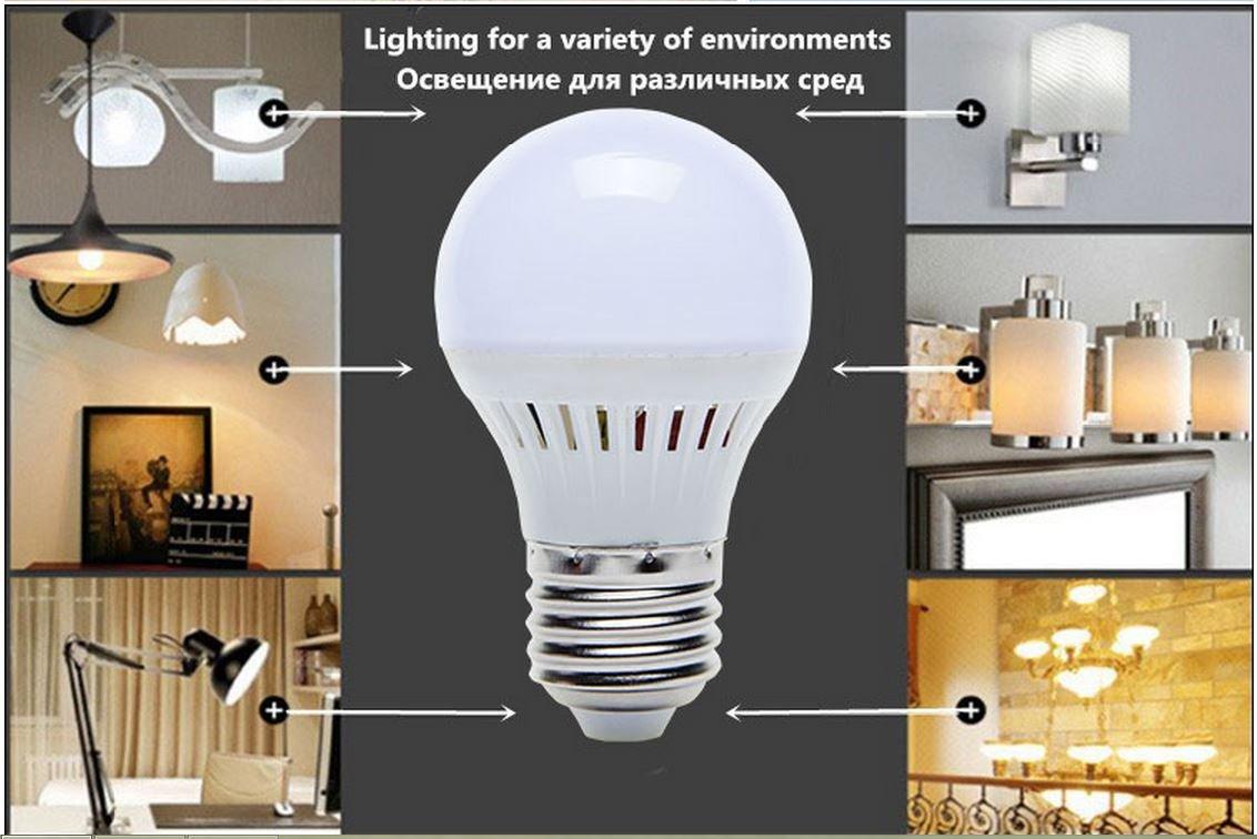 4PCS E27 3W ENERGY SAVING LED BULB 110-220 VOLT Unit price $1.66 Unit Price: