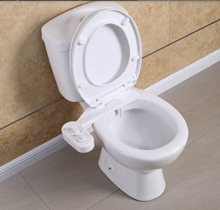 non electric toilet seat attachment mechanical bidet and nozzle