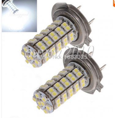 2X  H7 68 SMD 3528 1210 LED White Xenon Car Auto Vehicle Headlight Bulb Fog Head Lights Parking Lamp