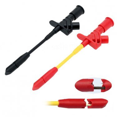 Insulation Tool Piercing Needle Test Clips Red+Black Multimeter