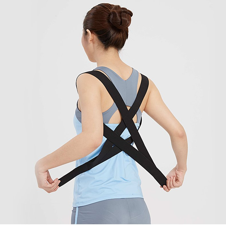 Shoulder Back Belt Back Support Waist Brace Adjustable Posture Corrector