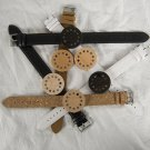 12 holes  Dot Brand Design Wood   Watch Top Luxury unisex Real Leather Straps