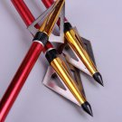 6X 125 Grain Hunting Crossbow Arrow Broadhead with 3 Fixed Blades used As Archery Bow And Arrow