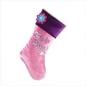 Discount Christmas Shopping: Girlz Rock Velvet Stocking