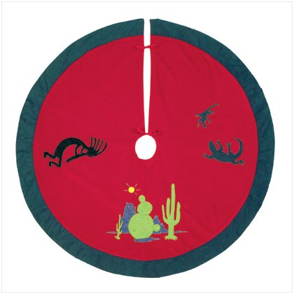 Discount Christmas Shopping: Cactus Plush Christmas Tree Skirt