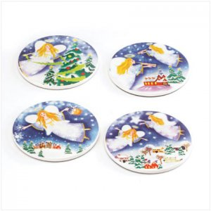 Discount Christmas Shopping: Christmas Angel Coasters