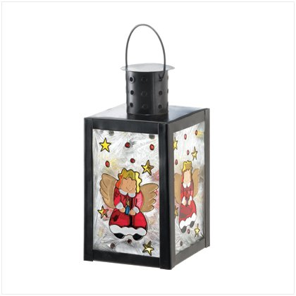 Discount Christmas Shopping: Christmas Angel Glass Candle Lamp