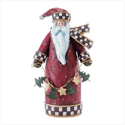 Discount Christmas Shopping: Folk Art Santa