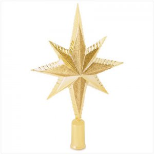Discount Christmas Shopping: Gold Star Tree Topper