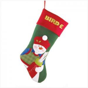 Discount Christmas Shopping: Plush Golf Snowman Stocking