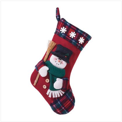 Discount Christmas Shopping: Plush Stocking - Snowman