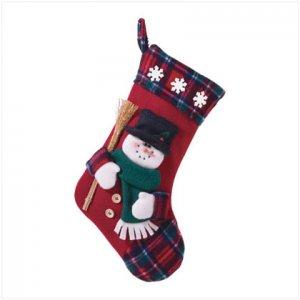 Discount Christmas Shopping: Plush Stocking - Snowman
