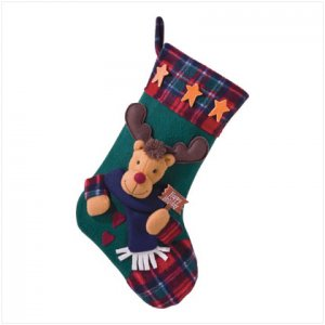 Discount Christmas Shopping: Plush Stocking-Rudolph