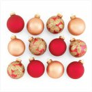 Discount Christmas Shopping: Red and Gold Christmas Ornaments Set of 12