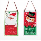 Discount Christmas Shopping: Santa and Snowman Hanging Plaque Set of 2