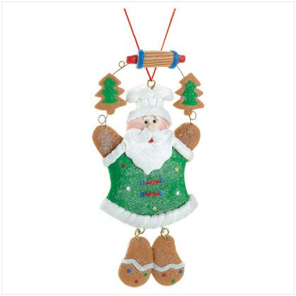 Discount Christmas Shopping: Santa Chef Gingerbread Ornamnt