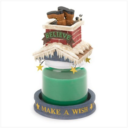 Discount Christmas Shopping: Santa Down the Chimney Candle Topper