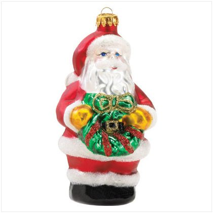 Discount Christmas Shopping: Santa Glass Ornament