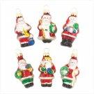 Discount Christmas Shopping: Santa Ornaments Set of 6
