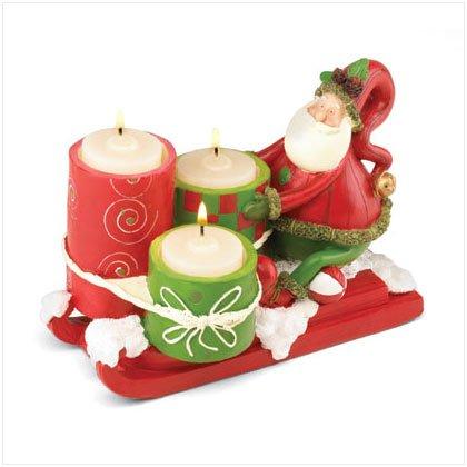 Discount Christmas Shopping: Santa's Sleigh Tealight Candle Holder
