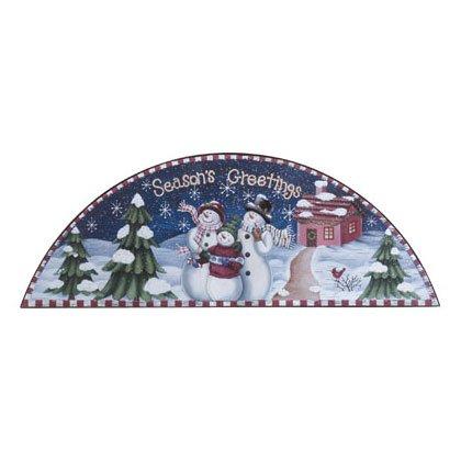 Discount Christmas Shopping: Seasons Greetings Snowman Door Crown