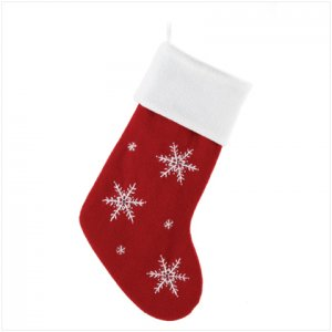 Discount Christmas Shopping: Snowflake Pattern Stocking