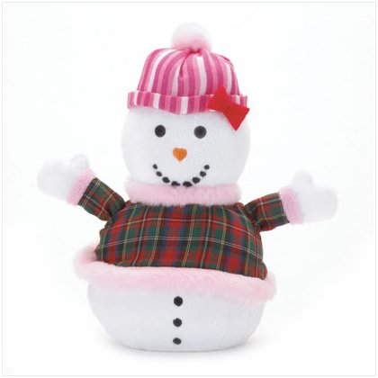 Discount Christmas Shopping: Snowlady Plaid Mini Bean Bag