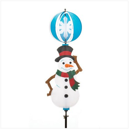 Discount Christmas Shopping: Snowman 3D Spinning Yard Decor