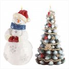 Discount Christmas Shopping: Snowman and Christmas Tree Candles
