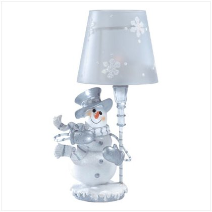 Discount Christmas Shopping: Snowman Candle Lamp