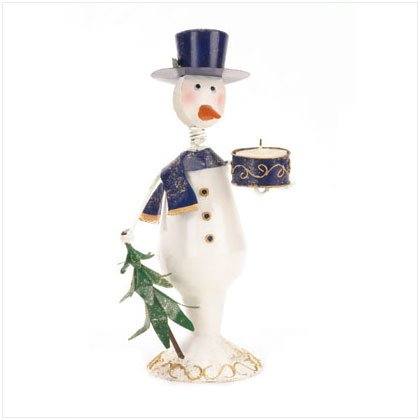 Discount Christmas Shopping: Snowman Candleholder