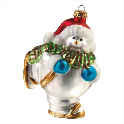 Discount Christmas Shopping: Snowman Glass Ornament