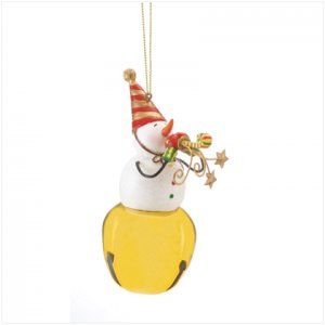 Discount Christmas Shopping: Snowman on Bell Ornament