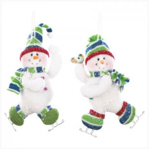 Discount Christmas Shopping: Snowman Ornaments Set of 2