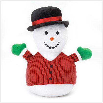 Discount Christmas Shopping: Snowman Plaid Mini Bean Bag